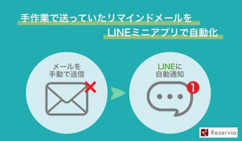 LINEミニアプリでリマインド通知を自動化するメリット!予約のリマインドメールを手動で送ってませんか?